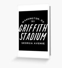 Griffith Stadium  Washington Greeting Card