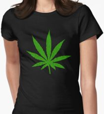 Marijuana Leaf Women's Fitted T-Shirt