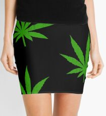 Marijuana Leaf Mini Skirt