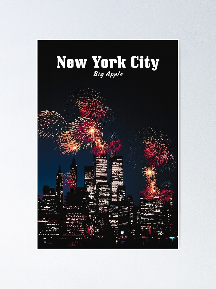 Alternate view of NEW YORK CITY: Big Apple Poster