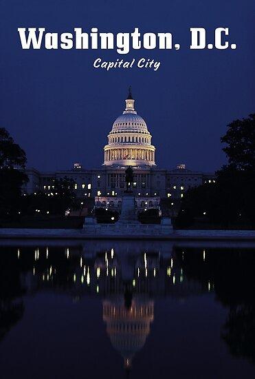 WASHINGTON, DC: Capital City by TOP Posters & Prints