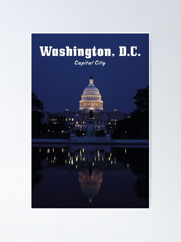Alternate view of WASHINGTON, DC: Capital City Poster