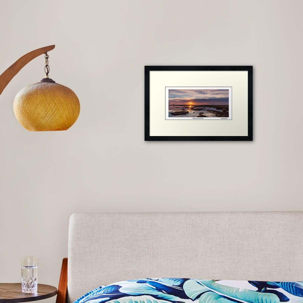 Rickett's Point Sunset Framed Art Print