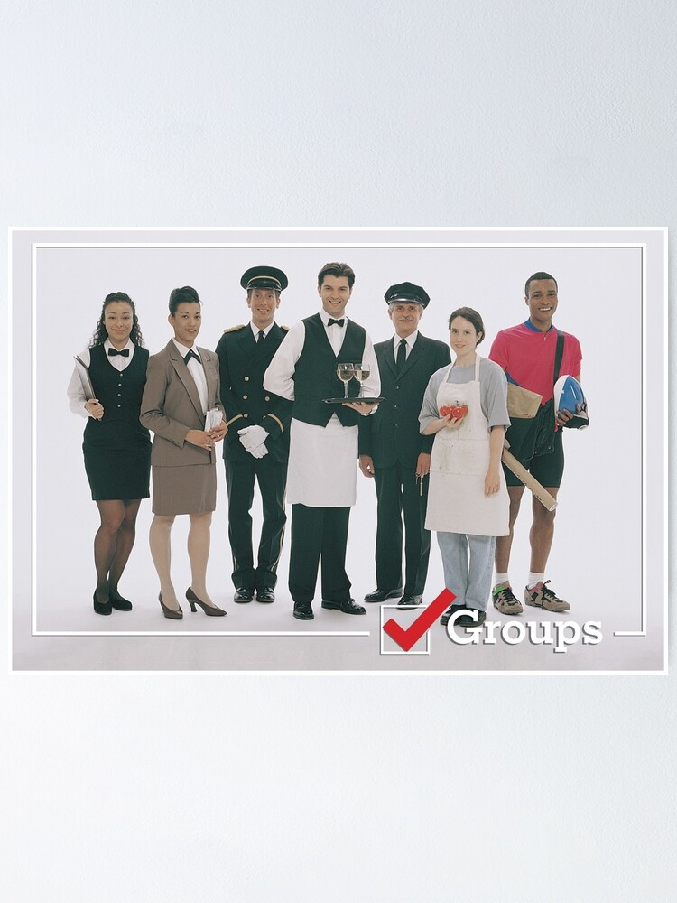 Alternate view of GROUPS: Service Industry Poster