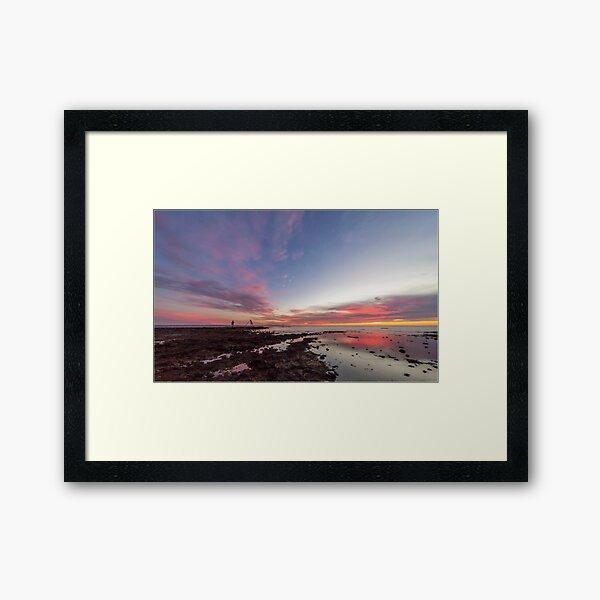Sunset at Rickett's Point Framed Art Print