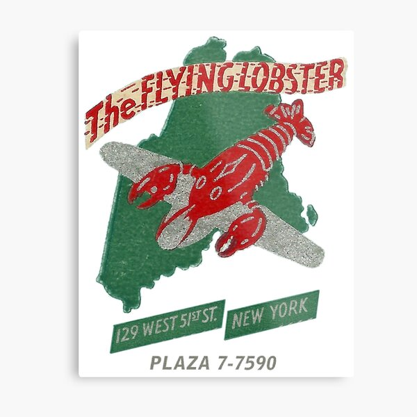 The Flying Lobster, New York City Metal Print