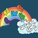 Pomeranian + Rainbow = Pomerainbow by pooknero