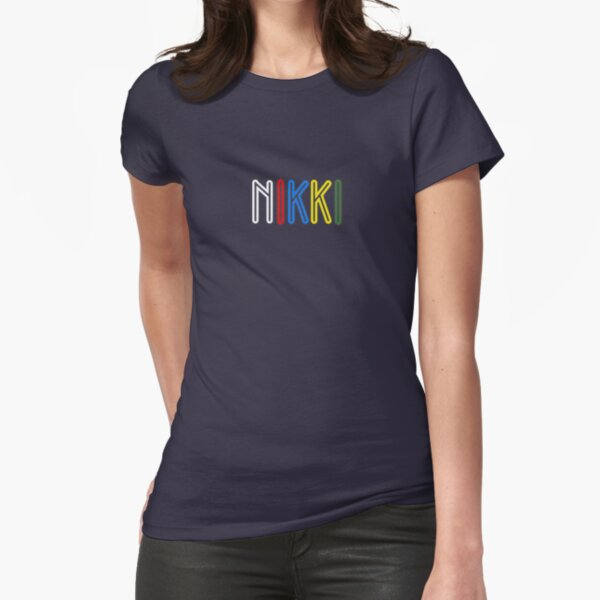 Nikki - Your Personalised Products Fitted T-Shirt