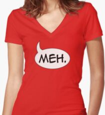 Meh. Women's Fitted V-Neck T-Shirt