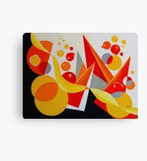 YELLOW/RED BALLOON ABSTRACT Canvas Print