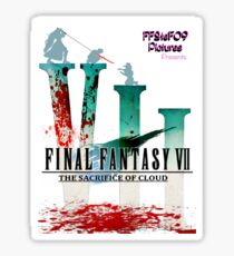 Final Fantasy VII: The Sacrifice Of Cloud - Numbers and Characters With Blood Sticker