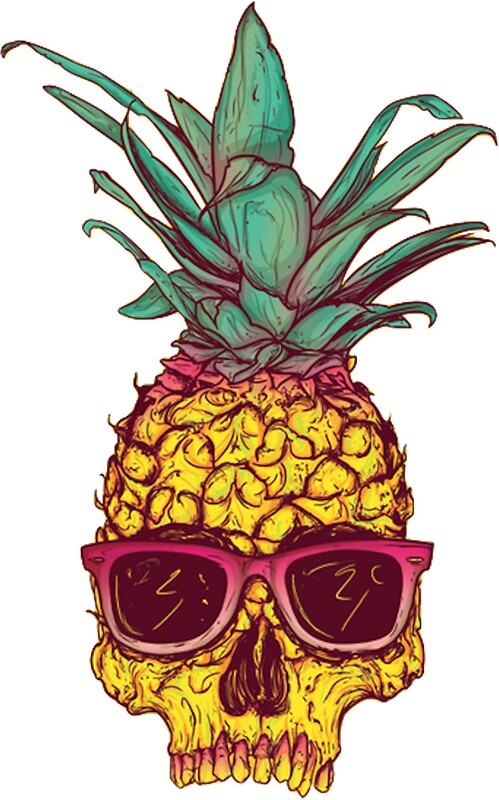 pineapple with sunglasses clipart. pineapple skeleton by hayleycross with sunglasses clipart p