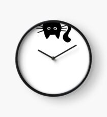 Funny Black Cat Clock