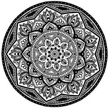 Mandala Twelve - No Text  by catebolt