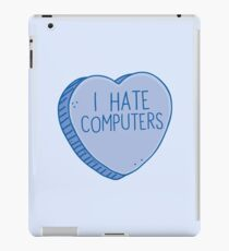 I HATE COMPUTERS heart candy iPad Case/Skin