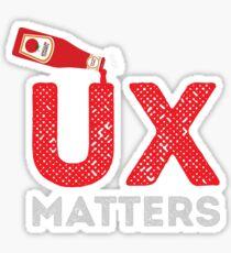 UX MATTERS Sticker