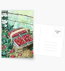 Strawberries in a Basket Postcards