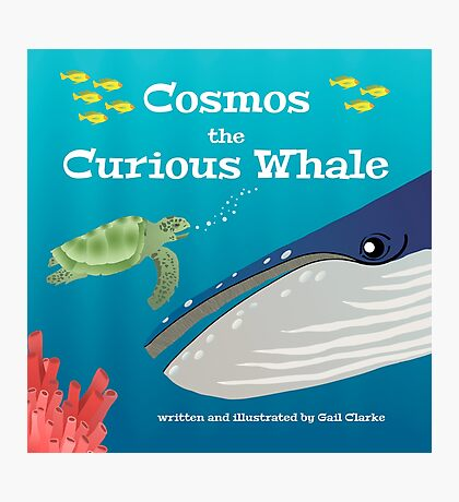 Cosmos the Curious Whale Photographic Print