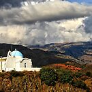 Crete - Church under the clouds by fotowagner