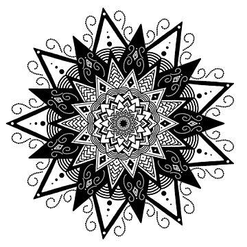 Mandala Seven - No Text by catebolt
