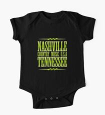 Body de manga corta para bebé Nashville Tennessee Country Music TG