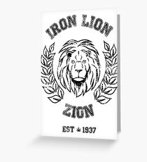 IRON LION ZION BOB MARLEY Greeting Card
