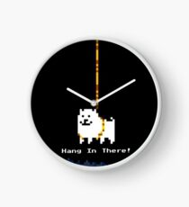 Annoying dog hang in there! Clock