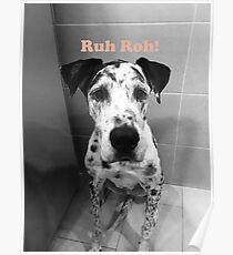 Ruh Roh! - Great Dane Poster