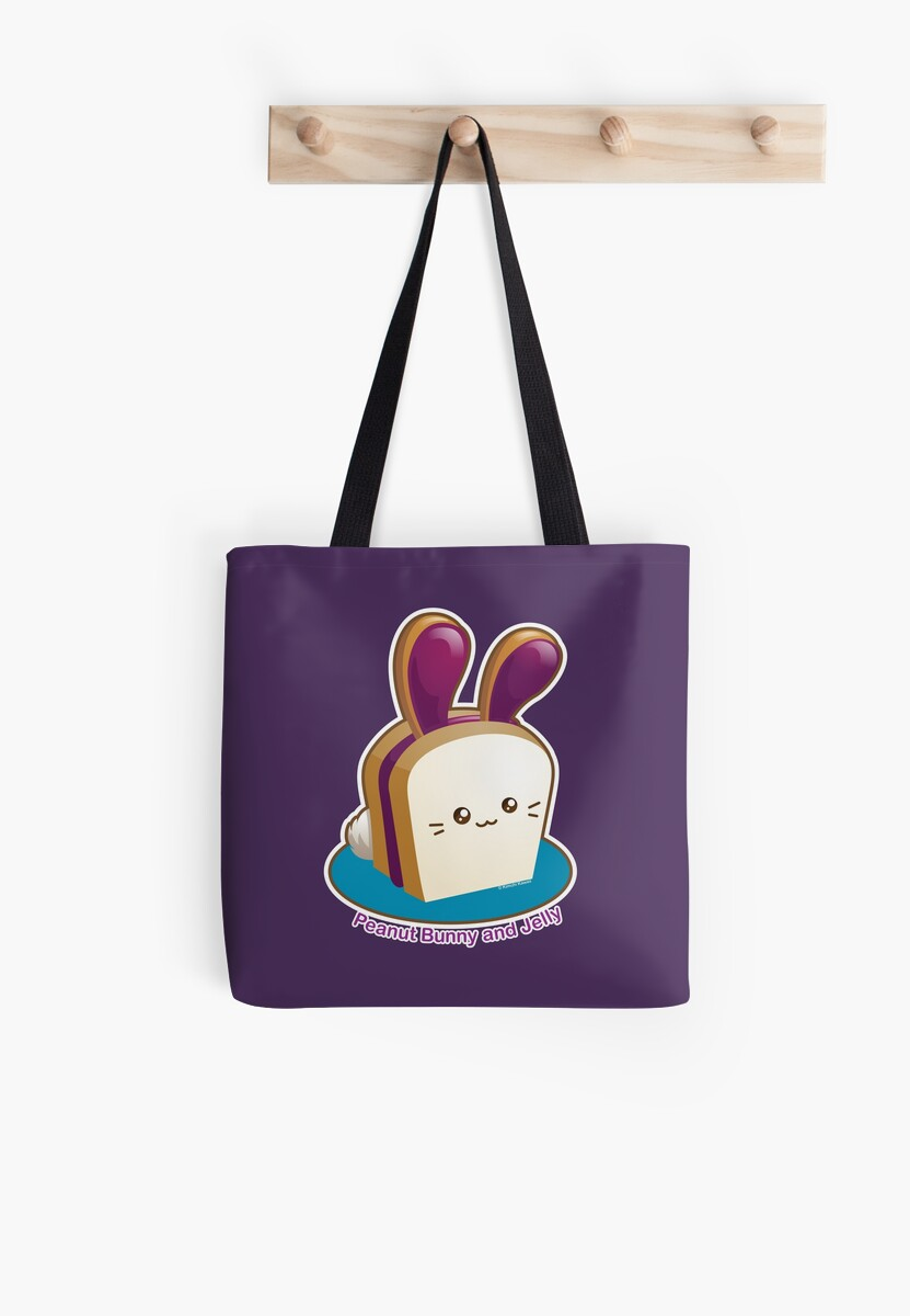 Punny Buns: Cute Peanut Butter and Jelly Sandwich Bunny by kimchikawaii