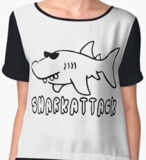 Shark Attack Chiffon Top