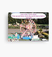 Love is like a Ferris Wheel Canvas Print