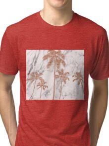 Rose gold marble palms Tri-blend T-Shirt
