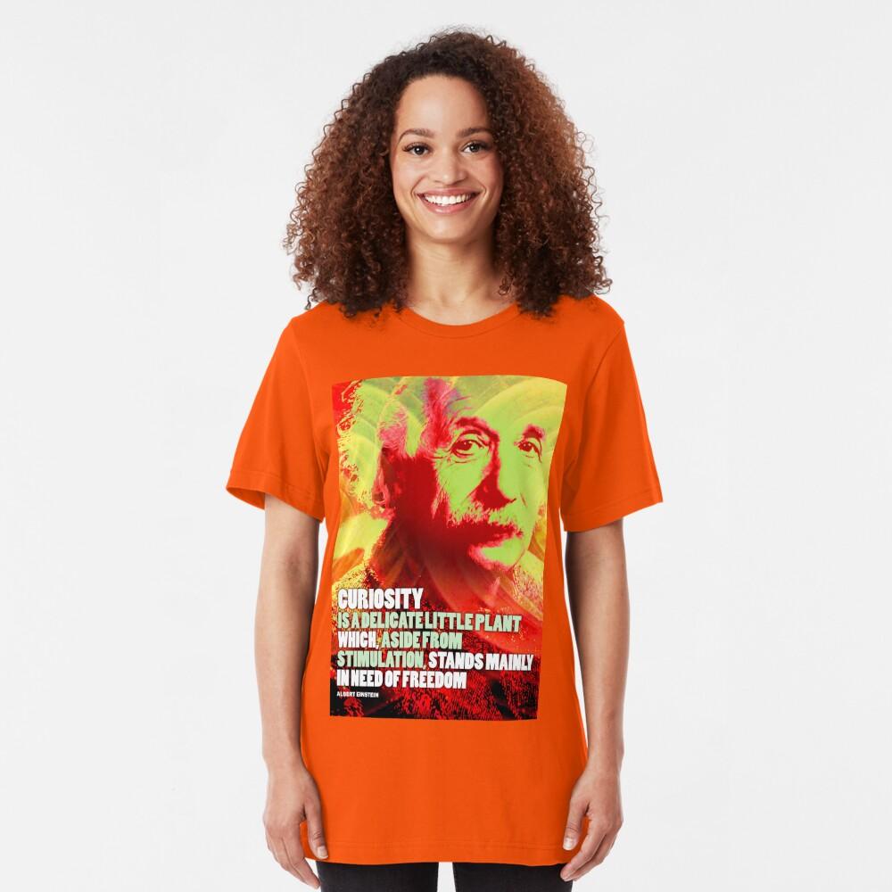 Albert Einstein Inspirational Quote Slim Fit T-Shirt