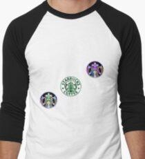 Tie Dye Cute Starbucks Pack Men's Baseball ¾ T-Shirt