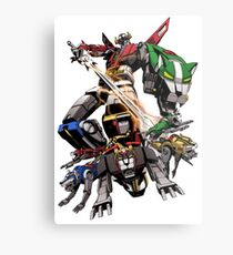 Robot Sword Team Metal Print