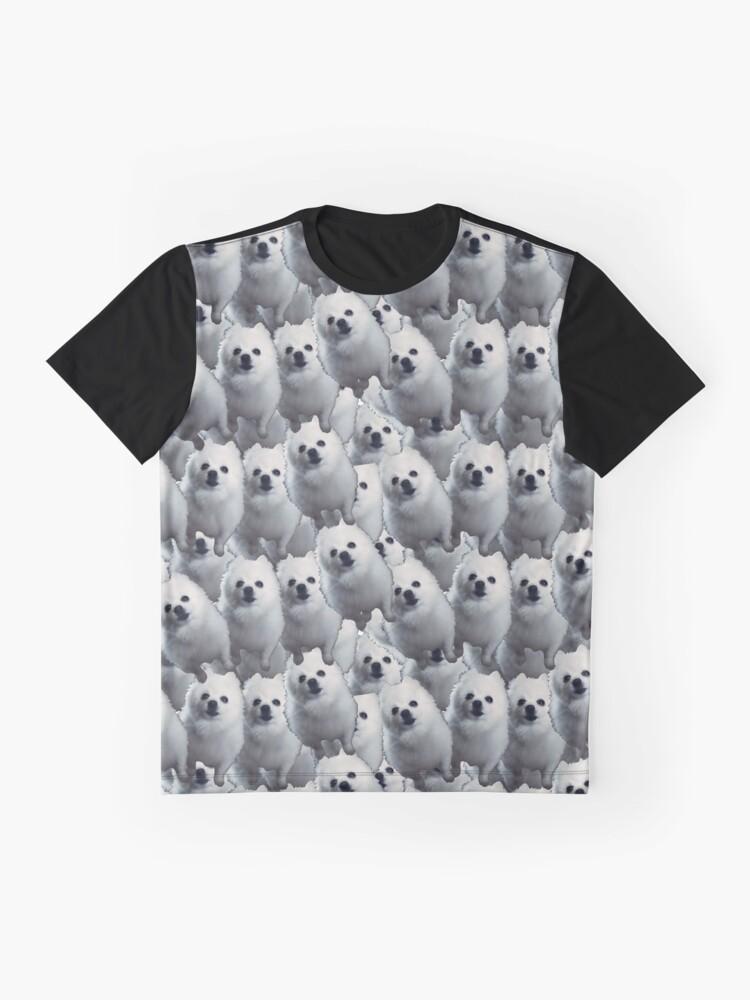 Vista alternativa de Camiseta gráfica Gabe el perro