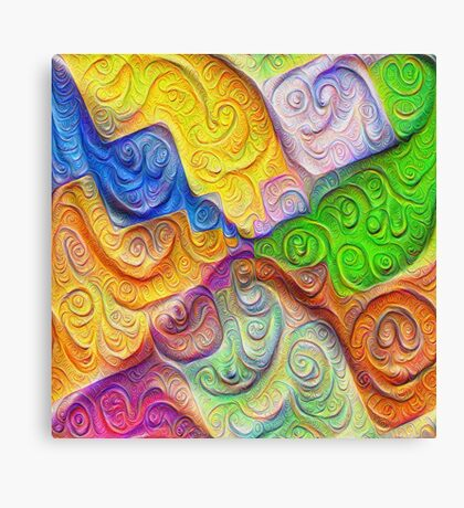 The Color Spots was each carefully sculpted #DeepDream Canvas Print