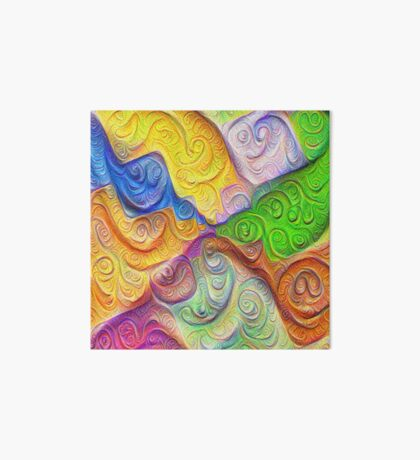 The Color Spots was each carefully sculpted #DeepDream Art Board Print