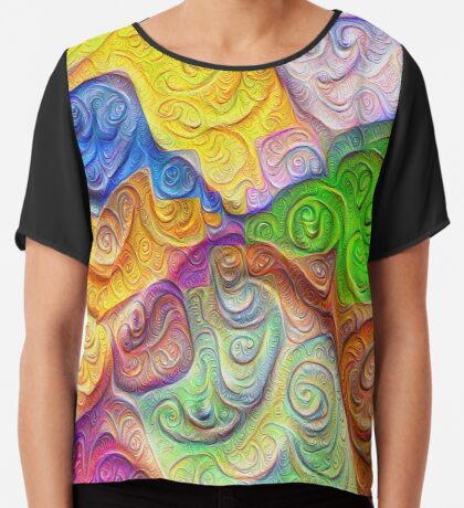 The Color Spots was each carefully sculpted #DeepDream Chiffon Top