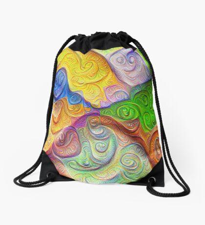 The Color Spots was each carefully sculpted #DeepDream Drawstring Bag