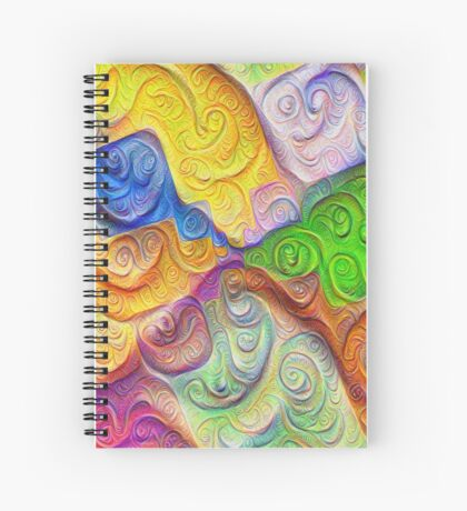 The Color Spots was each carefully sculpted #DeepDream Spiral Notebook