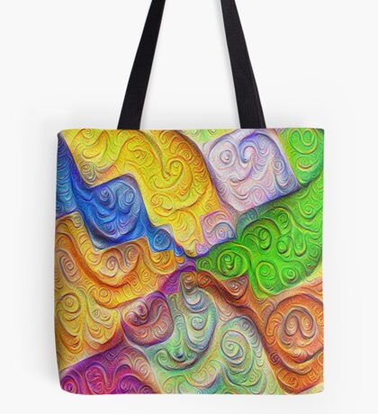The Color Spots was each carefully sculpted #DeepDream Tote Bag
