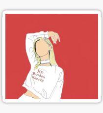 Bebe Rexha Inspired Drawing Sticker