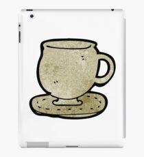 cup and saucer cartoon iPad Case/Skin