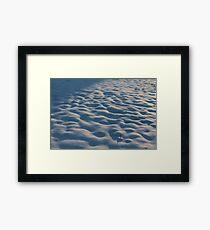 Snowy Lumps Framed Print