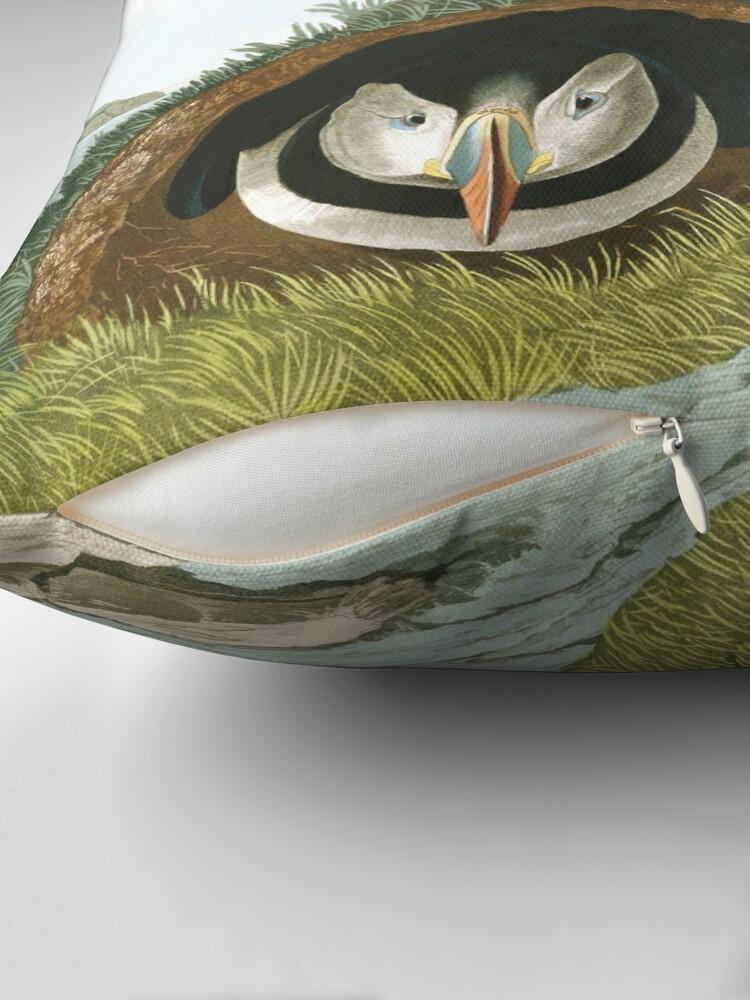 Alternate view of  Atlantic Puffin - John James Audubon Throw Pillow