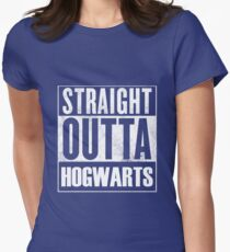 Straight outta Hogwarts Womens Fitted T-Shirt