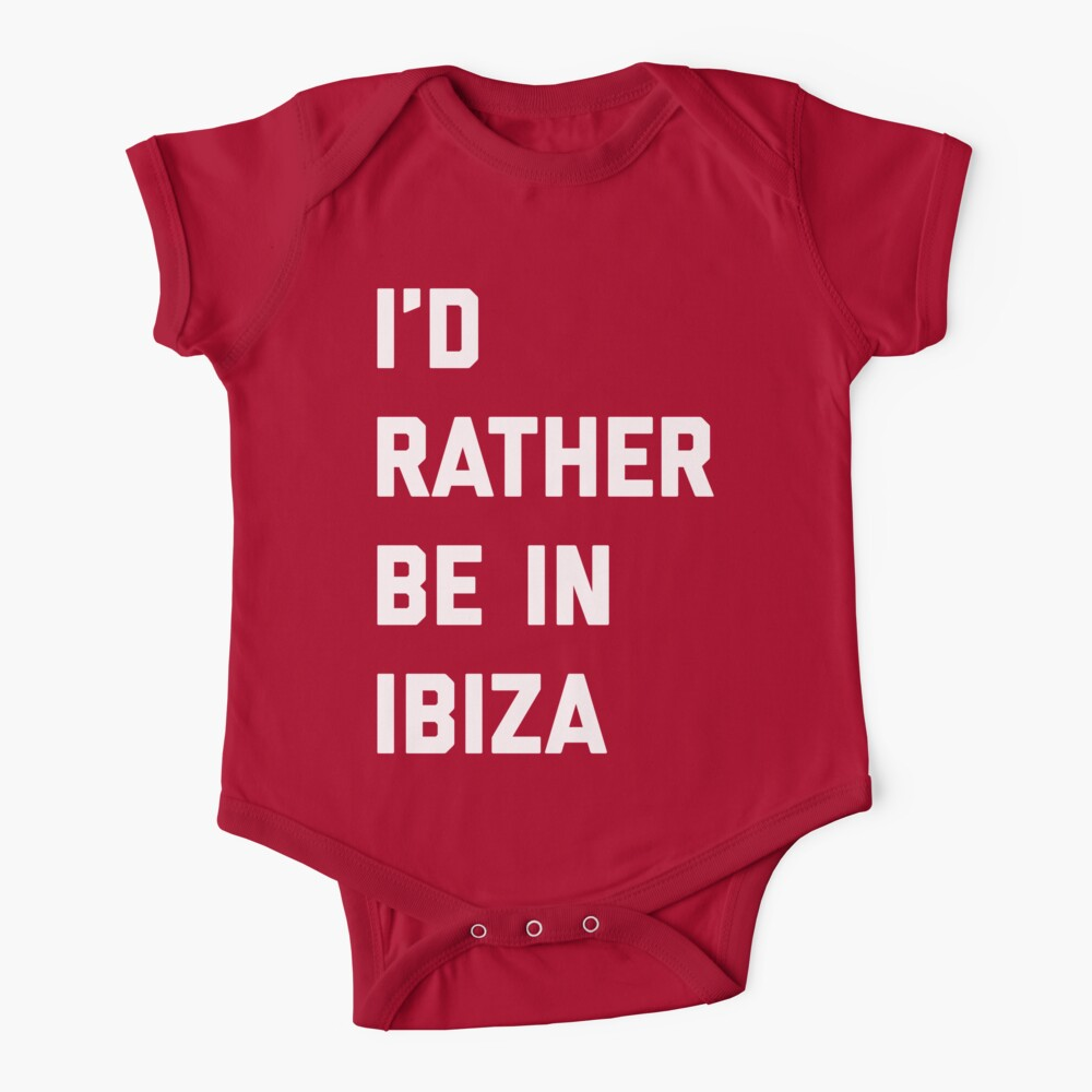 Be In Ibiza Music Quote Baby One-Piece