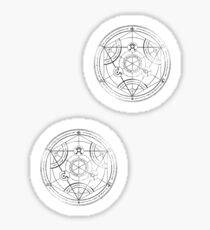 Human transmutation circle - charcoal Sticker