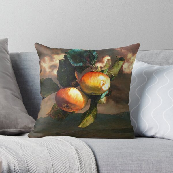 Still Life With Landscape Throw Pillow